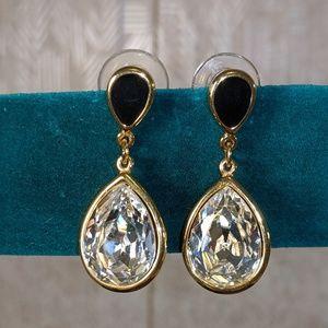 Trifari Crystal Drop earrings